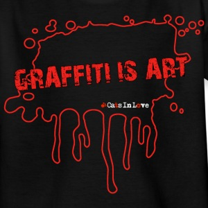 Graffiti Is Art - Outline - Kinder T-Shirt