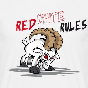 Red White Rules T-Shirts - Männer T-Shirt