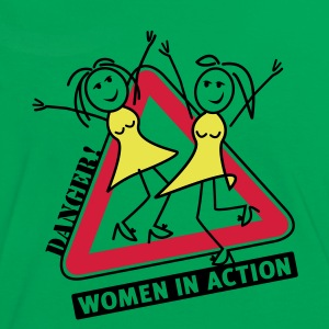 women in action T-Shirt - Kontrast-T-skjorte for kvinner