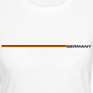 Deutschland - Nationalflagge als Retrostreifen. Germany T-Shirts - Frauen Bio-T-Shirt