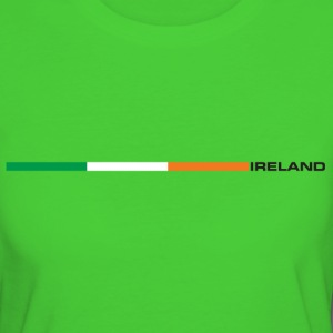 Irland - Nationalflagge als Retrostreifen. T-Shirts - Frauen Bio-T-Shirt