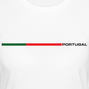 Portugal - Nationalflagge als Retrostreifen. T-Shirts - Frauen Bio-T-Shirt