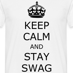 Vit Keep Calm T-shirts - T-shirt herr