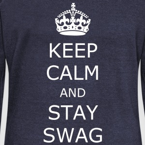 Keep calm and stay swag - Vrouwen trui met U-hals van Bella