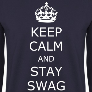 Navy Keep Calm and Swag Pullover & Hoodies - Männer Pullover