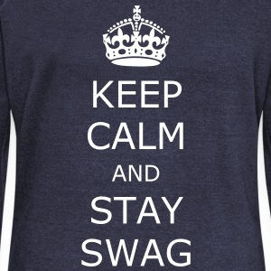 Keep calm and stay swag - Women's Boat Neck Long Sleeve Top