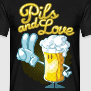 Pils and love cartoon - Männer T-Shirt