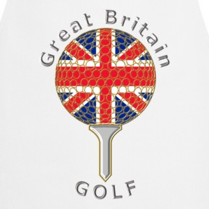 great britain union jack golf logo  Aprons - Cooking Apron