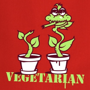 A carnivorous plant  as a vegetarian or cannibal  Aprons - Cooking Apron
