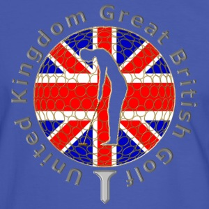 United Kingdom GB golf T-Shirts - Men's Ringer Shirt