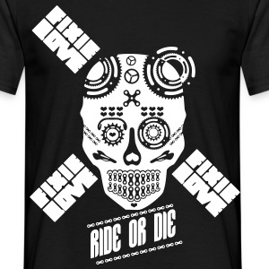skull riding ride or die  - T-shirt Homme