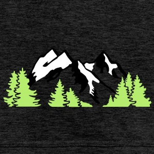 Mountain Alps Landscape Hoodies & Sweatshirts - Men's Premium Hoodie