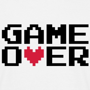 Game over | Heart | Herz | Love | Liebe T-Shirts - Koszulka męska