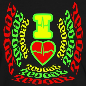 I LOVE REGGAE Tee shirts - T-shirt contraste Homme
