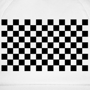 White/white pattern chequered black white Caps & Hats - Baseball Cap
