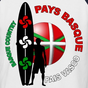 basque surfing 003 Tee shirts - T-shirt baseball manches courtes Homme