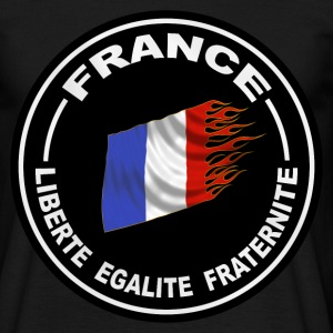Drapeau France flaming Tee shirts - T-shirt Homme
