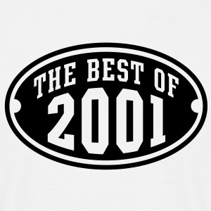 THE BEST OF 2001 - Birthday Anniversary T-Shirt BW - Men's T-Shirt