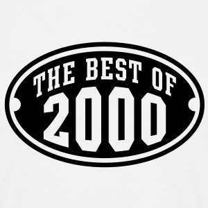 THE BEST OF 2000 - Birthday Anniversary T-Shirt BW - Men's T-Shirt