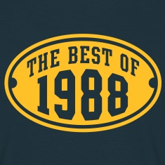 THE BEST OF 1988 - Birthday Anniversary T-Shirt YN