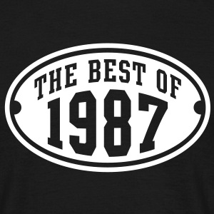 THE BEST OF 1987 - Birthday Anniversary T-Shirt WB - Men's T-Shirt