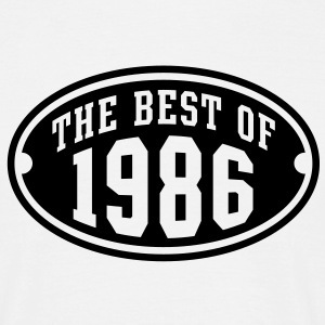 THE BEST OF 1986 - Birthday Anniversaire Tee Shirt BW - T-shirt Homme