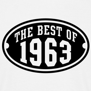 THE BEST OF 1963 - Birthday Geburtstag T-Shirt BW - Männer T-Shirt