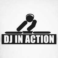 Design ~ DJ in Action with glow in the dark print