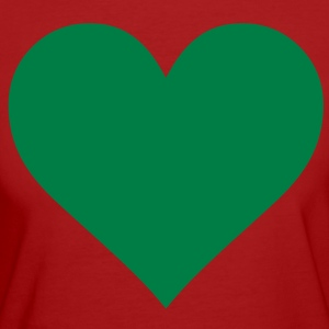 Green Heart Love Camisetas - Camiseta ecológica mujer