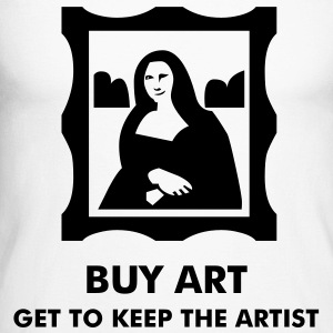 Monalisa - Art - Starving Artist Long sleeve shirts - Men's Long Sleeve Baseball T-Shirt