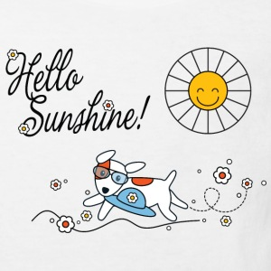 Hello sunshine, hello sping and summer kids Kids' Shirts - Kids' Organic T-shirt