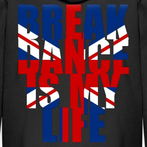 break dance is my life angleterre Hoodies - Kids' Premium Zip Hoodie