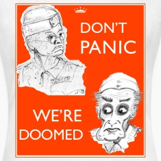 Dad's Army Jones & Frasier Don't panic/We're doomed T-Shirts