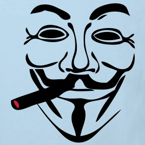 anonymous masque mask cigare1 Tee shirts Enfants - T-shirt Bio Enfant
