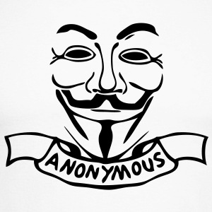 anonymous masque mask banniere1 Tee shirts manches longues - T-shirt baseball manches longues Homme
