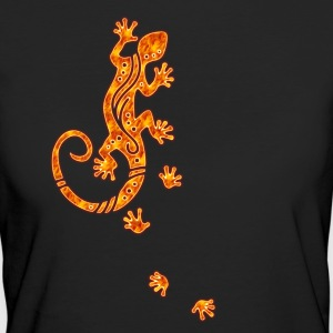 Running Gecko Fire | Frauen Shirt organic - Frauen Bio-T-Shirt
