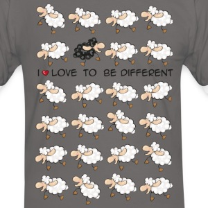 I love to be different Camisetas - Camiseta contraste hombre