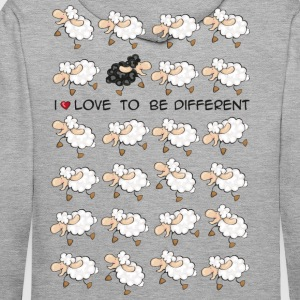 I love to be different Felpe - Felpa con cappuccio premium da uomo