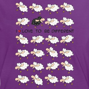 I love to be different T-Shirts - Frauen Kontrast-T-Shirt