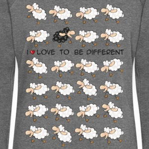 I love to be different Sweat-shirts - Pull Femme col bateau de Bella