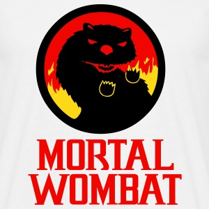 Mens Mortal Wombat design T-shirt - Men's T-Shirt