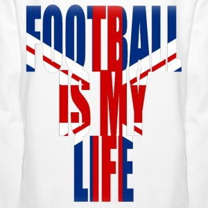 football is my life angleterre Sweat-shirts - Sweat-shirt à capuche Premium pour femmes