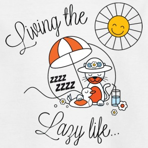 Living lazy in the sun spring and summer kids Barn-T-shirts - T-shirt tonåring