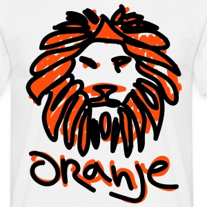 Dutch Orange Lion EK 2012 / Oranje Leeuw Mascotte T-shirts - Mannen T-shirt
