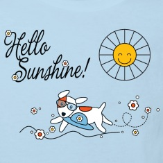 Hello sunshine, hello sping and summer kids Kids' Shirts
