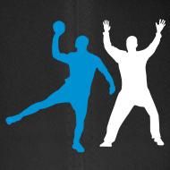 Motif ~ Casquette Handball, duel tireur gardien