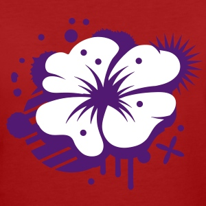 Klatschmohn als Graffiti T-Shirts - Frauen Bio-T-Shirt