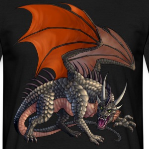 menacing dragon - Männer T-Shirt