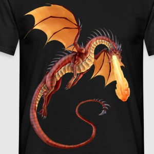 fire dragon - Men's T-Shirt