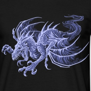 ghost dragon - T-shirt herr